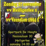 Matchday Heiligerlee 1- Veendam 1894 Zo1