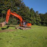 Begin aanleg kunstgrasveld
