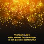 Kerst en nieuwjaarsgroet Veendam 1894